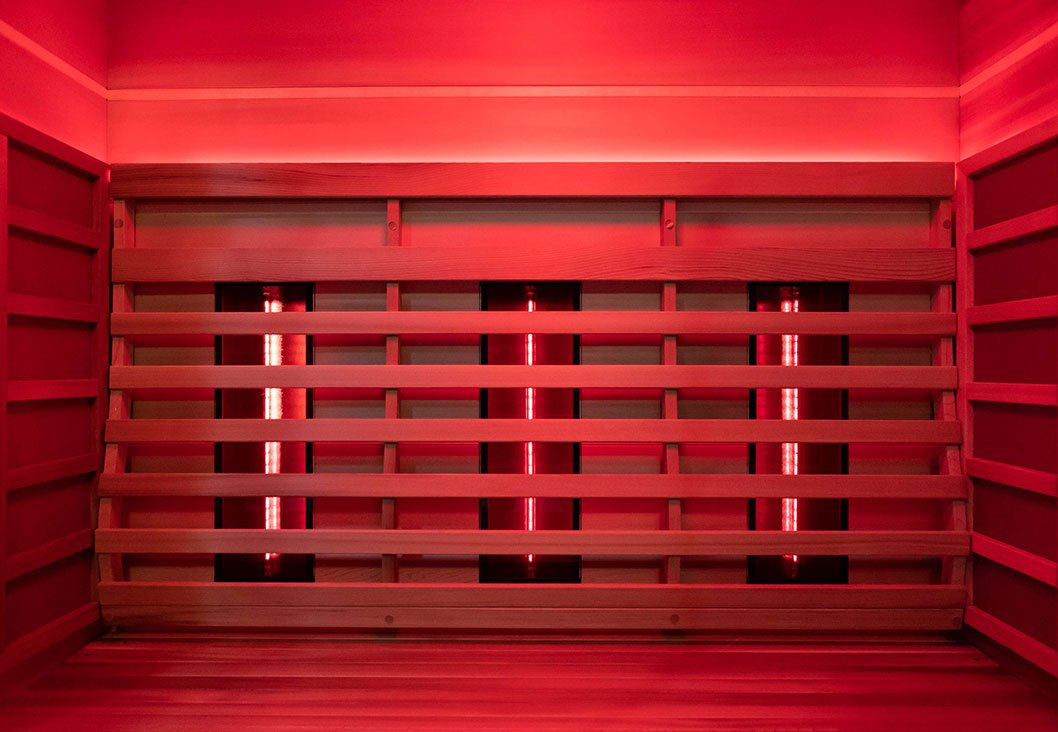 infrared sauna with red light